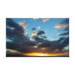 """Impresión de la lona de la """"puesta del sol hawaian lona envuelta para galerias"""