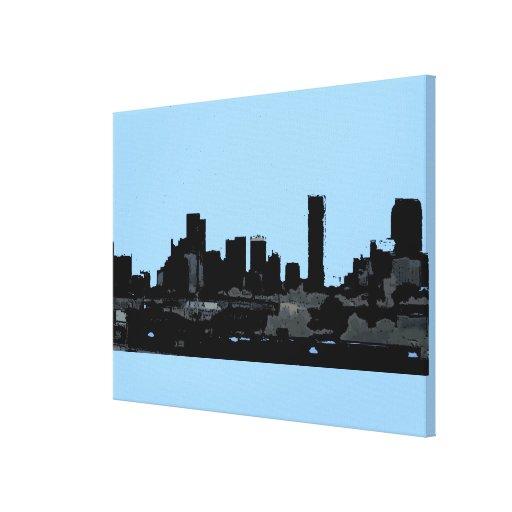Impresión de la lona de la silueta del horizonte d impresiones en lona