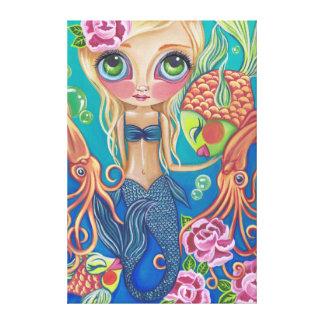 """Impresión de la lona de la """"sirena acuática"""" impresión en lienzo estirada"""