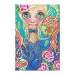 """Impresión de la lona de la """"sirena acuática"""" impresión de lienzo"""