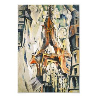 Impresión de la lona de la torre Eiffel de Roberto Impresión Fotográfica