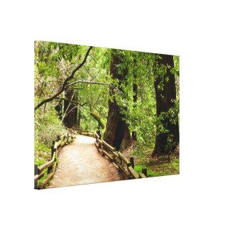 Impresión de la lona de la trayectoria de maderas  lienzo envuelto para galerías