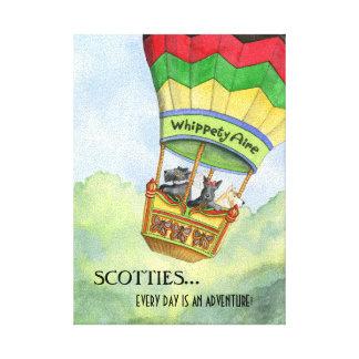 Impresión de la lona de las aventuras del escocés impresiones en lona estiradas