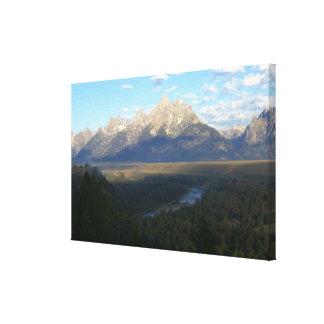 Impresión de la lona de las montañas de Jackson Ho Impresión En Lona Estirada