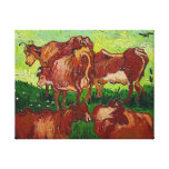 """Impresión de la lona de """"Les Vaches"""" de Van Gogh Lienzo Envuelto Para Galerías"""