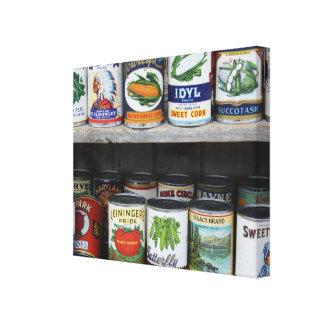 Impresión de la lona de los alimentos enlatados y lienzo envuelto para galerias