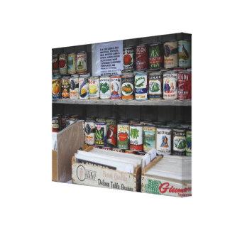 Impresión de la lona de los alimentos enlatados y lona envuelta para galerias