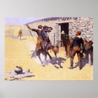 Impresión de la lona de los apaches impresiones
