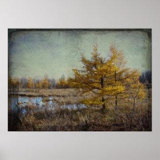 Impresión de la lona de los árboles de marzo poster