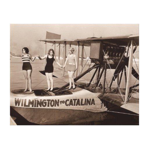 Impresión de la lona de los bañadores del vintage  impresion en lona
