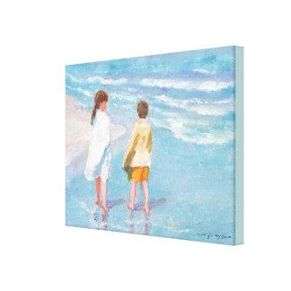 Impresión de la lona de los caminante de la playa impresion en lona