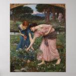 Impresión de la lona de los capullos de rosa de YE Posters