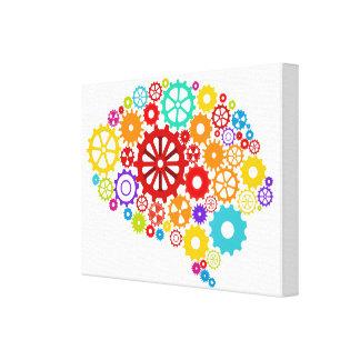 Impresión de la lona de los engranajes del cerebro impresiones en lona
