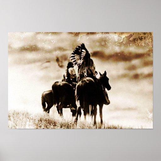 Impresión de la lona de los guerreros de Cheyenne  Impresiones
