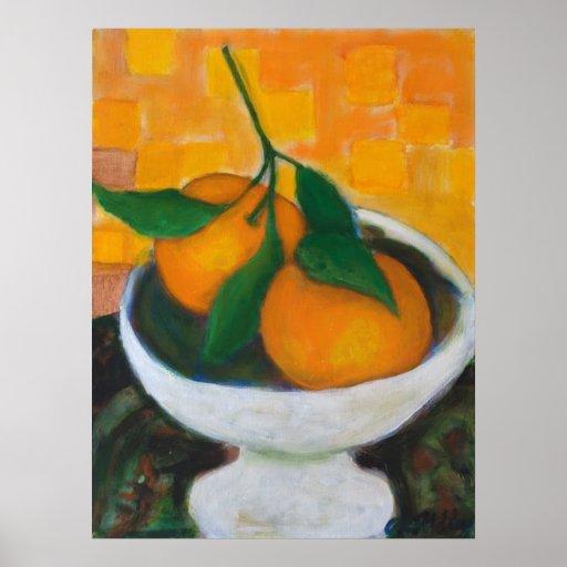 Impresión de la lona de los naranjas póster