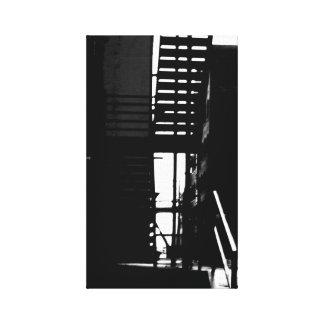 Impresión de la lona de los pasos de B/w Impresiones De Lienzo