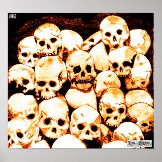 Impresión de la lona de los Pila-O-Cráneos (enveje Posters