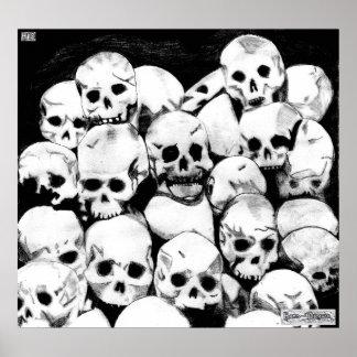 Impresión de la lona de los Pila-O-Cráneos Poster