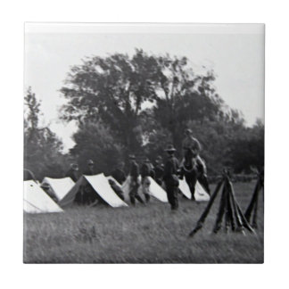 Impresión de la lona de los soldados de WWI Azulejo Cuadrado Pequeño