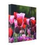 Impresión de la lona de los tulipanes impresiones en lona estiradas