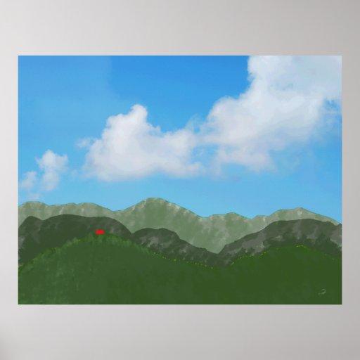 Impresión de la lona de Montañas de los las del en Poster