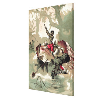 Impresión de la lona de P.T. Barnum Hippo del vint Impresión En Lona