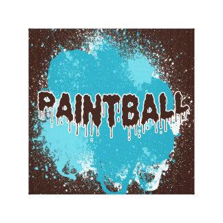 Impresión de la lona de Paintball Impresiones En Lienzo Estiradas