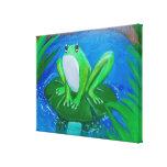 Impresión de la lona de pintura de la rana lona estirada galerias