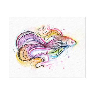 Impresión de la lona de pintura de los pescados de lona estirada galerias