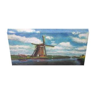 Impresión de la lona de pintura del molino de vien impresiones en lona estiradas