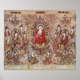 Impresión de la lona de Sakyamuni Budha Chang-Shen Posters