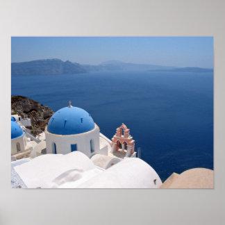 Impresión de la lona de Santorini Póster