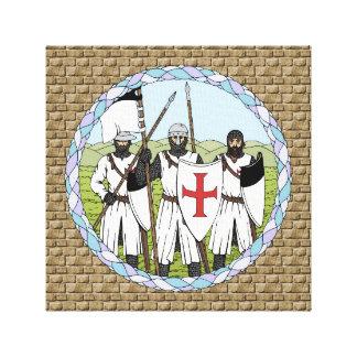 Impresión de la lona de Templar de los caballeros Lienzo Envuelto Para Galerías