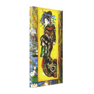 Impresión de la lona de Van Gogh Japonaiserie Oira