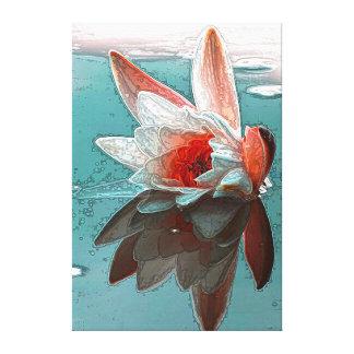 Impresión de la lona de Waterlily Impresiones De Lienzo
