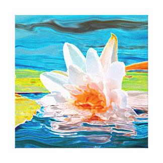 Impresión de la lona de Waterlily Impresiones En Lona