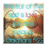 Impresión de la lona del 5:22 de Galatians Impresiones En Lona Estiradas