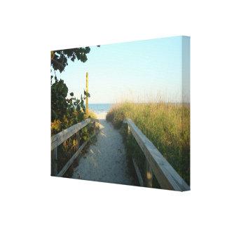 Impresión de la lona del acceso de la playa lona estirada galerias