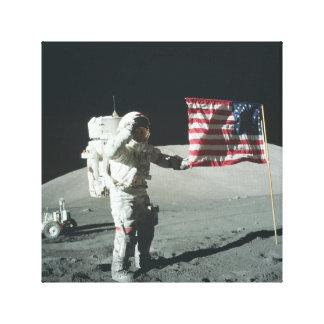 Impresión de la lona del alunizaje de Apolo 11 Impresión En Lienzo Estirada