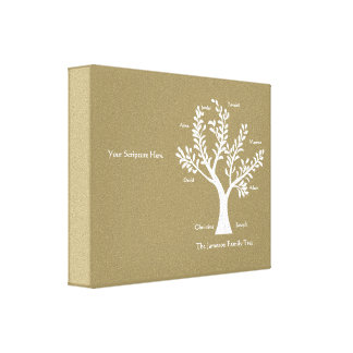 Impresión de la lona del árbol de familia de la es impresiones en lona estiradas