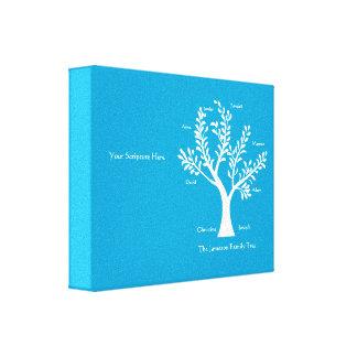 Impresión de la lona del árbol de familia de la es impresion de lienzo
