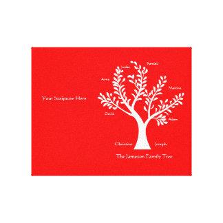 Impresión de la lona del árbol de familia de la es lona envuelta para galerias