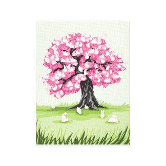 Impresión de la lona del árbol del flor del lienzo envuelto para galerias