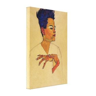 Impresión de la lona del autorretrato de Egon Schi Impresiones En Lona