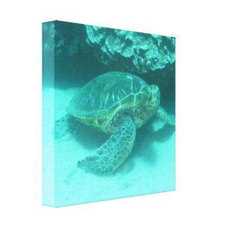 Impresión de la lona del buceo con escafandra de l lienzo envuelto para galerías