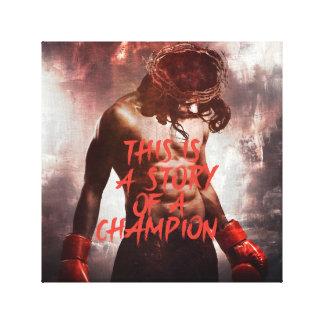 Impresión de la lona del campeón de Jesús