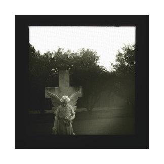 Impresión de la lona del cementerio de B&W Lona Envuelta Para Galerias