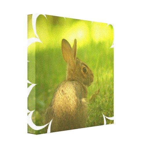 Impresión de la lona del conejo de conejito impresiones en lona estiradas