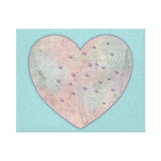Impresión de la lona del corazón impresiones de lienzo