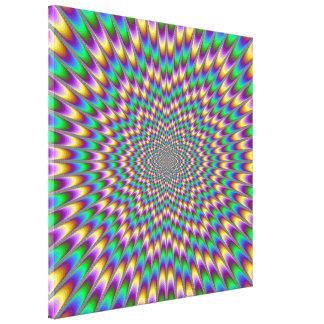 Impresión de la lona del doblador del ojo lona envuelta para galerías